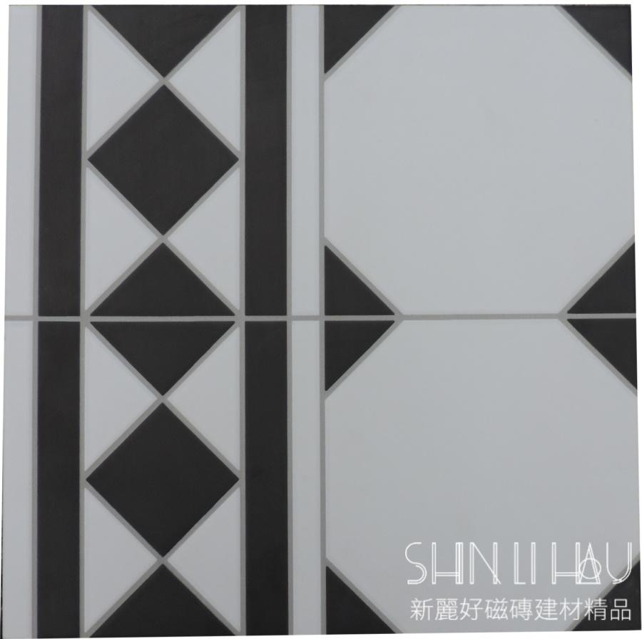 黑白棋盘格马赛克组花砖-引领空间艺术美学新格调【一个恋家的开始.