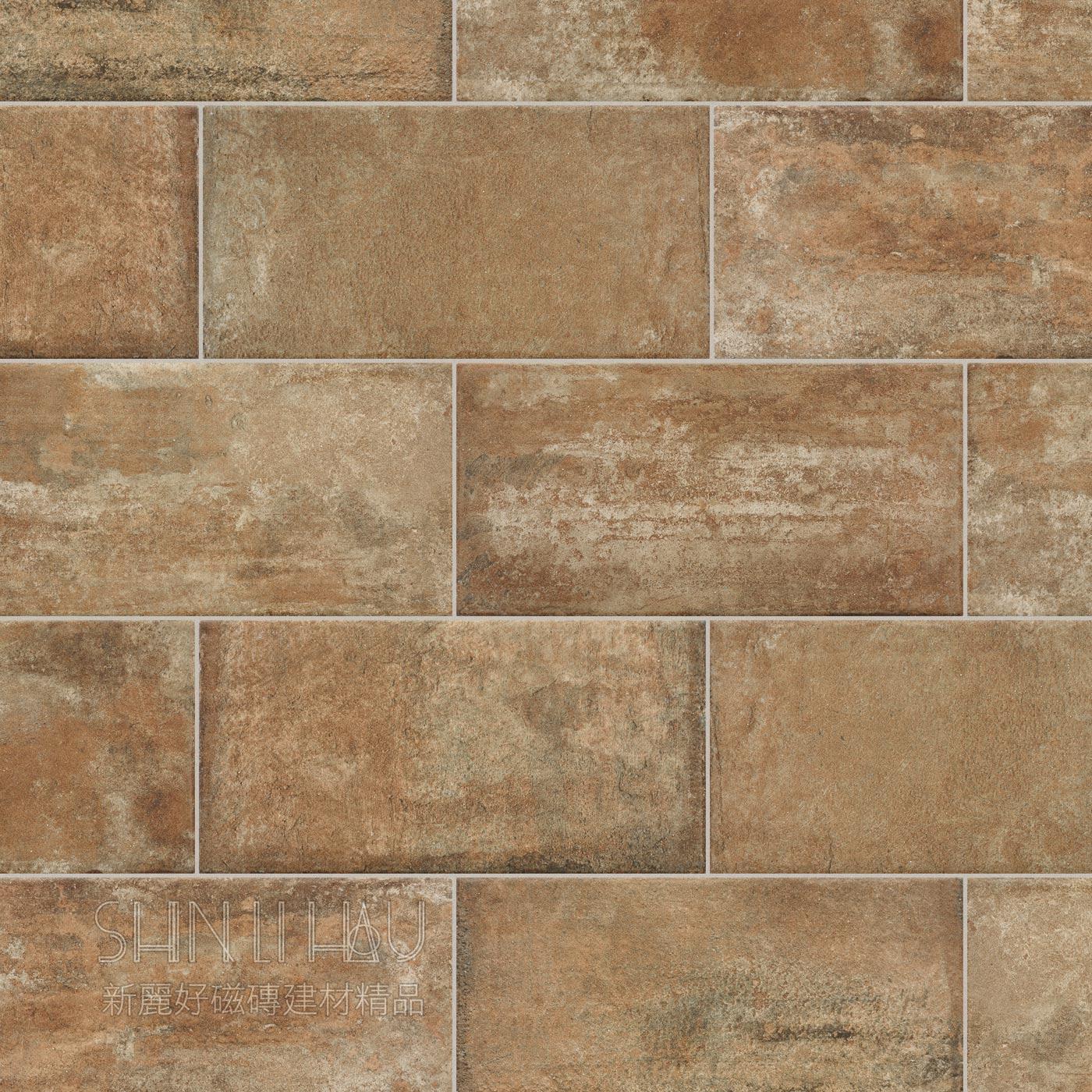 英伦情怀-工业风老砖,文化石,红砖,水泥砖,锈砖,古堡砖 - 土窑红