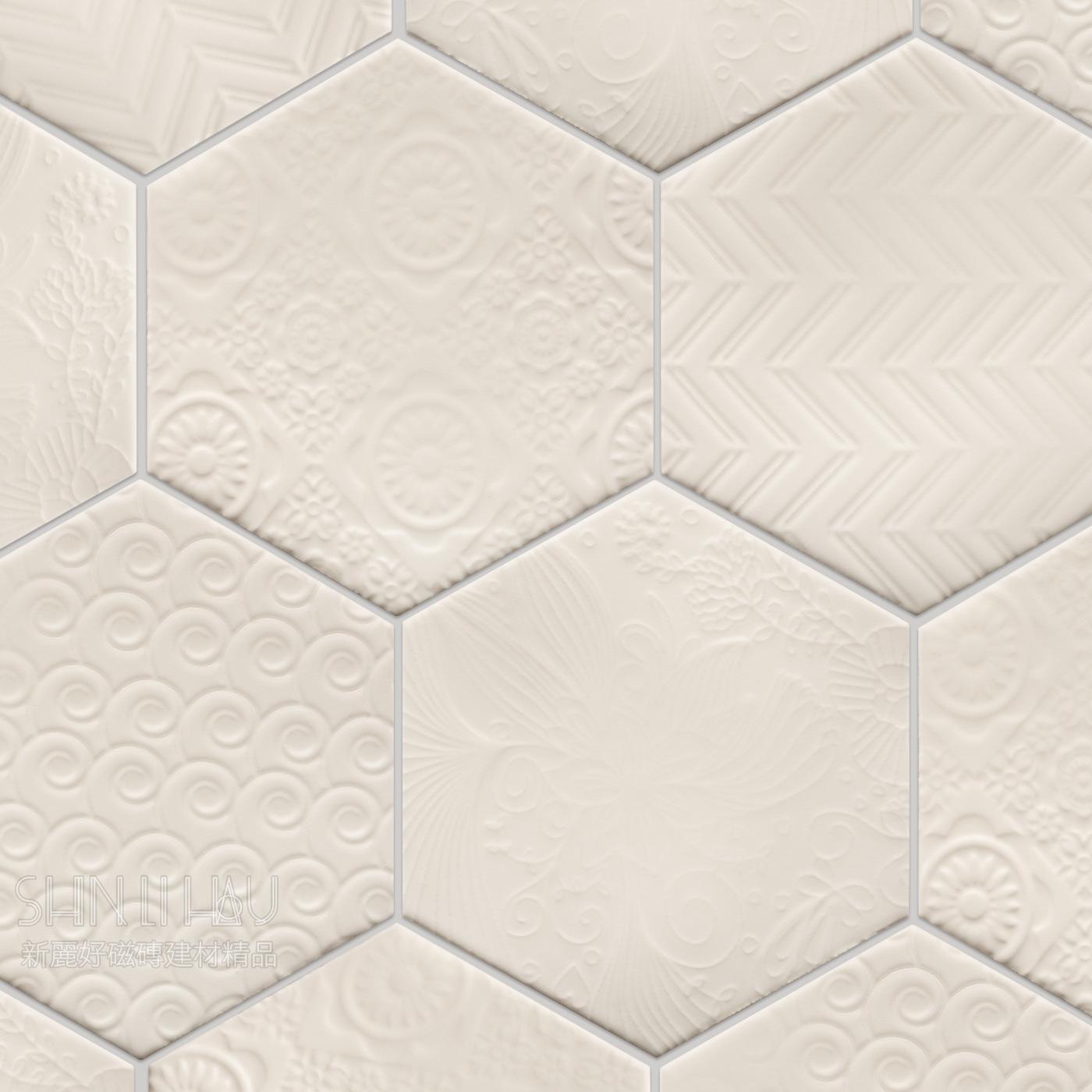 逸雅六角磚 - 白色