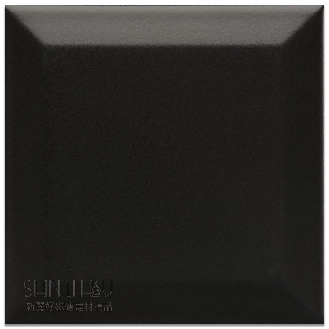 霧面原萃地鐵磚10×10 - 霧黑色