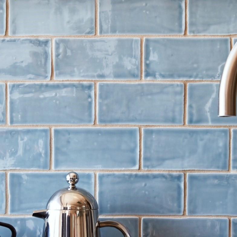沉韻 復古邊地鐵磚【石英材質、地面可使用】 - 星雲藍