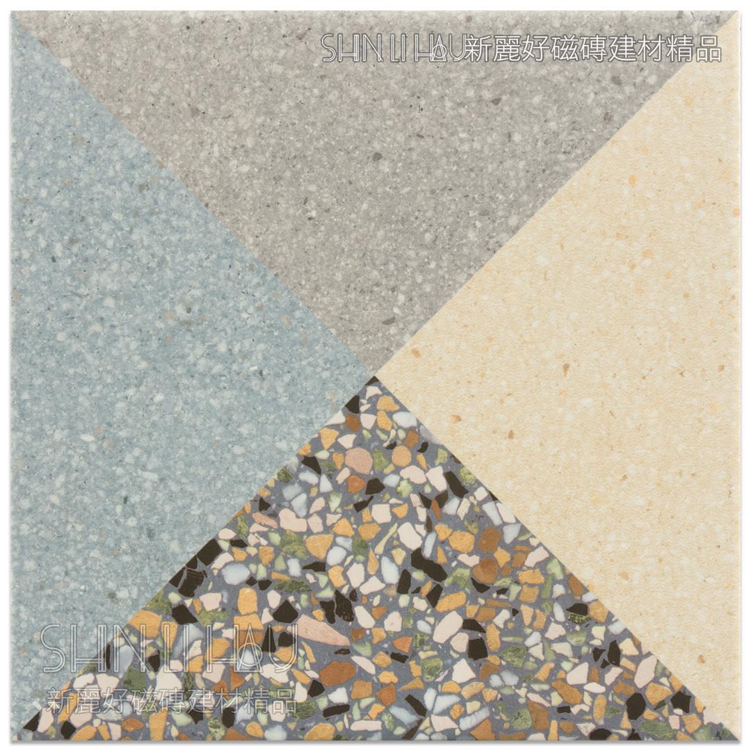 彩品水磨石磁磚 - 善變花磚(12種隨機)